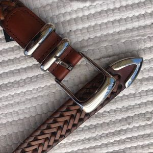 Perry Ellis Braided Leather Belt 38""